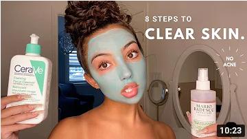 8 step to clear skin