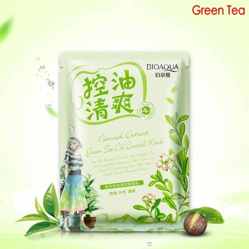 ماسک ورقه ای چای سبز بیوآکوا