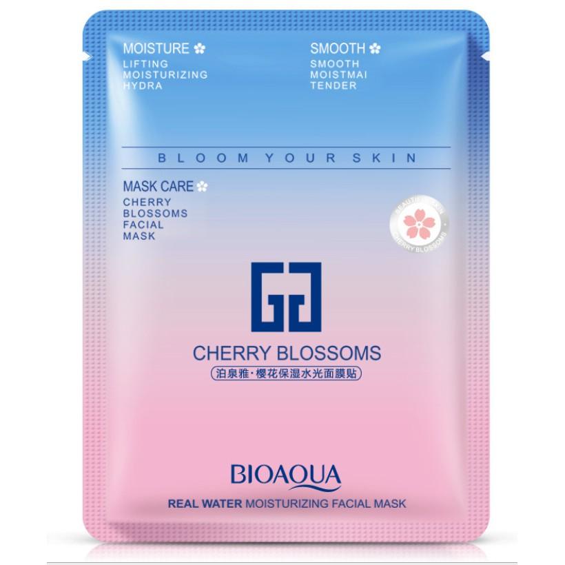 ماسک ورقه ای نرم کننده و مرطوب کننده شکوفه گیلاس بیوآکوا