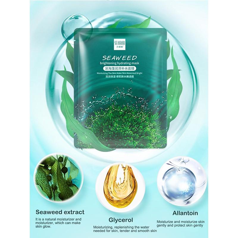 ماسک روشن کننده و مرطوب کننده جلبک دریایی سنانا
